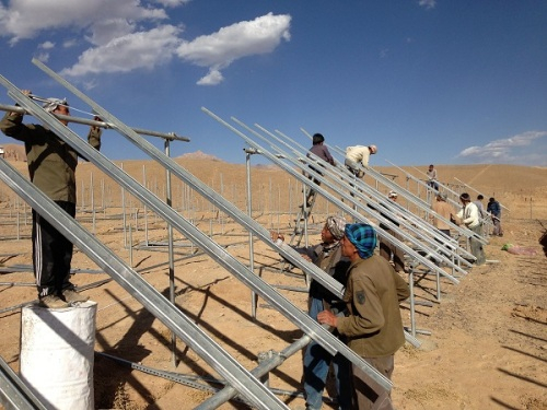 PV-System_Bamyan_Construction