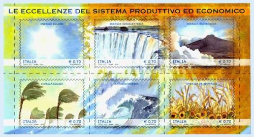 Ambiente: sei francobolli per le energie rinnovabili