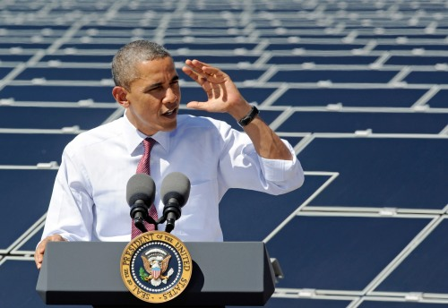 President Obama Visits Largest Photovoltaic Plant In U.S. In Nevada