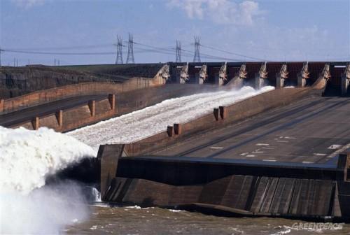 Itaipu Dam Hydroelectric project. Brazil.